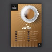 cafe menu template vector free download