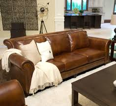warm rustic leather sectional sofa design ideas and decor