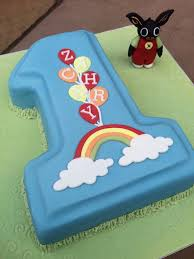 first birthday cake with bing bunny bing things pinterest