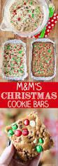 m u0026m u0027s christmas cookie bars recipe mini chocolate chips