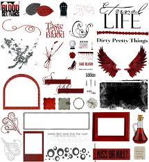 true blood vampire word art and clear cut png 7 by riogirl9909