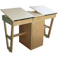 Drawing Desk Kids Dual Station Drawing Desk With Storage Cabinet W81986