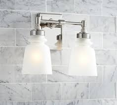 Polished Nickel Sconces Benchwright Double Sconce Pottery Barn