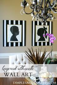 diy layered silhouette oversized wall art dimples and tangles