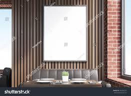 cafe interior vertical framed poster on stock illustration