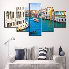 Art For Living Room Venice Canal Painting Promotion Shop For Promotional Venice Canal