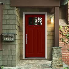 steel front doors in ideal lite craftsman mesa red interior steel