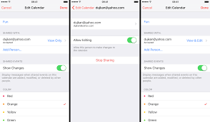 how to refuse an invitation how to share icloud calendars