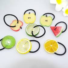 fruit headband hairbands hair elastic ties transparent
