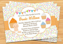 sprinkle shower cupcake baby sprinkle shower invitation
