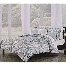 Gray Paisley Duvet Cover Amazon Com Nicole Miller Home Full Queen Duvet Cover And Shams