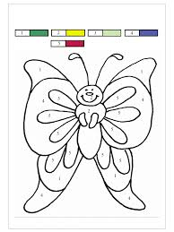 butterfly color by number coloring home