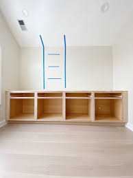 how to build base cabinets out of plywood how to install diy built in cabinets the diy playbook
