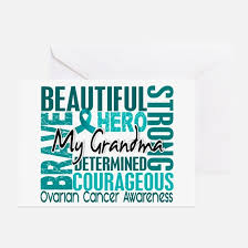 ovarian cancer greeting cards cafepress