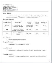 simple resume templates free download resume simple resume format for freshers free download