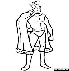 king roger pro wrestler coloring