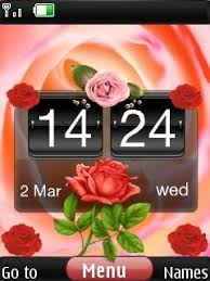 nokia x2 themes free download mobile9 free nokia x2 02 x2 05 3d rose beauty clock app download in love