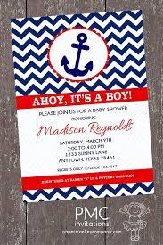 nautical baby shower invitations chevron nautical baby shower invitations 1 00 each with envelope