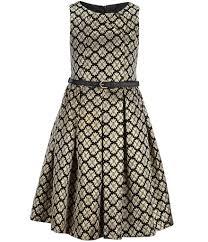 bonnie jean big u0027s 7 16 belted floral jacquard a line dress