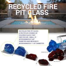 Fire Pit Glass Rocks by Auburn Medium Fire Pit Glass