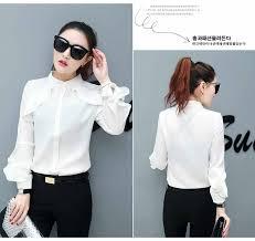 blouse wanita blouse wanita putih polos 2017 model terbaru jual