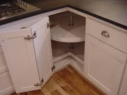 furniture shaker corner cabinet lazy susan with two doors for