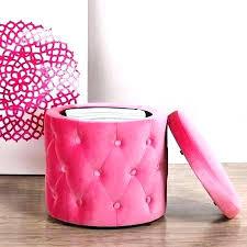 Pink Storage Ottoman Pink Ottoman Storage Etechconsulting Co