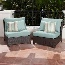Overstock Patio Chairs Rst Brands Bliss Patio Furniture Armless Chairs Set Of 2 Free
