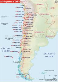 Map Of Chile South America by Chile Earthquake Map Areas Affected By Earthquakes In Chile