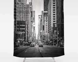Masculine Shower Curtains Nyc Shower Curtain Etsy