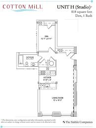 Den Floor Plan All Floorplans At Cotton Mill