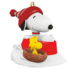 peanuts winter with snoopy mini ornament keepsake