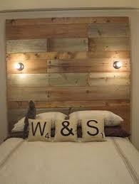Reclaimed Wood Headboard by Build A Simple Pallet Headboard Pallets Beams And Barn