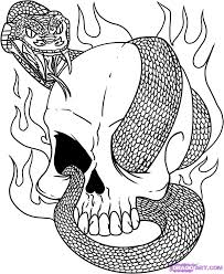picture of ice age colouring pages 5 easy to draw skull tattoo