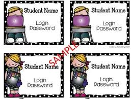 editable and free student computer login cards a traveled