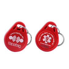 red key rings images Red emergency key fob jpg