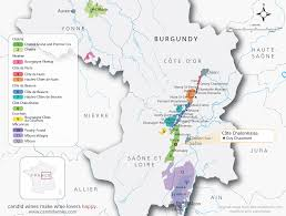 Burgundy France Map by Burgundy Candid Wines