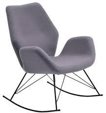 Accent Rocking Chairs Bryce Designer Felt Rocking Chair Unique Seat Grey Modern