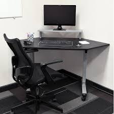Stand Up Corner Desk Adjustable Height Corner Desk Mobile Corner Computer Workstation