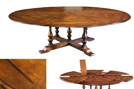 round dining room tables with leaf extra large solid walnut expandable round dining table with self
