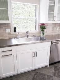 stainless steel countertop with built in sink 1000 ideas about stainless steel countertops on pinterest