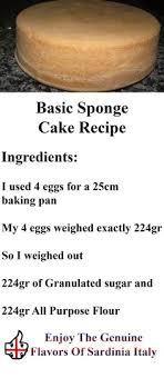 cake directions basic sponge cake recipe dessert basic sponge cake