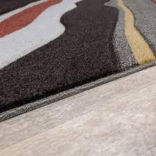 Teppich Schlafzimmer Beige Moderner Teppich Wohnzimmer Streifen Optik Meliert Braun Beige Rot