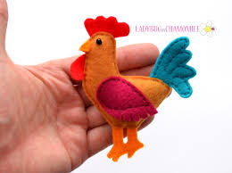 rooster felt magnet magnets felting and