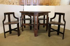 rare arts and crafts game table and chairs at 1stdibs