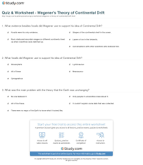 quiz u0026 worksheet wegener u0027s theory of continental drift study com