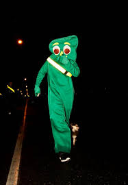 Gumby Halloween Costume Gladiator U0027s Costume Run Raises Spirits Halloween Article