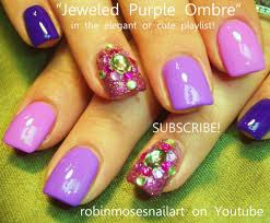 ombre nail art with bling youtube