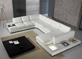 bonded leather sectional sofa amazon com t35 white bonded leather sectional sofa set with light
