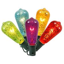 set of 10 multi color crackle glass st40 string lights